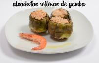 Alcachofa rellena de gamba