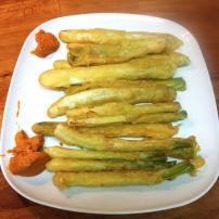 Receta de calçots en tempura gourmet de prandium